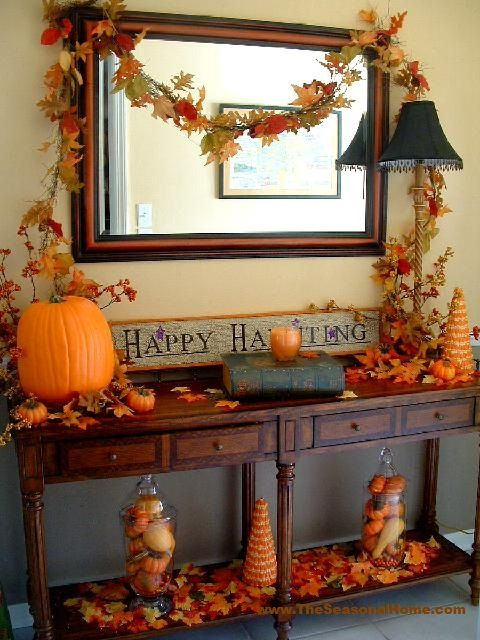 Welcoming Fall A Front Entry Foyer Design Holidays
