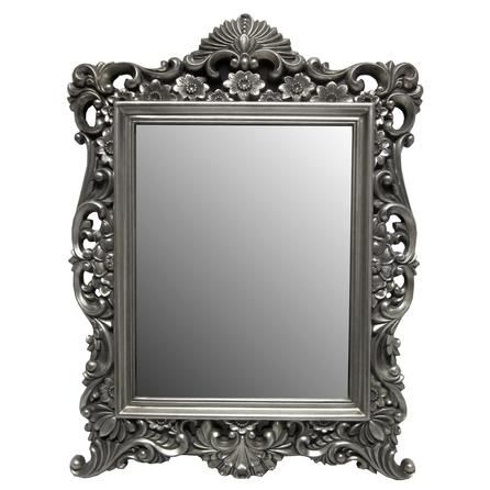 Silver ornate framed mirror dunelm wedding reception pinterest living room mirrors for Silver framed bathroom mirrors