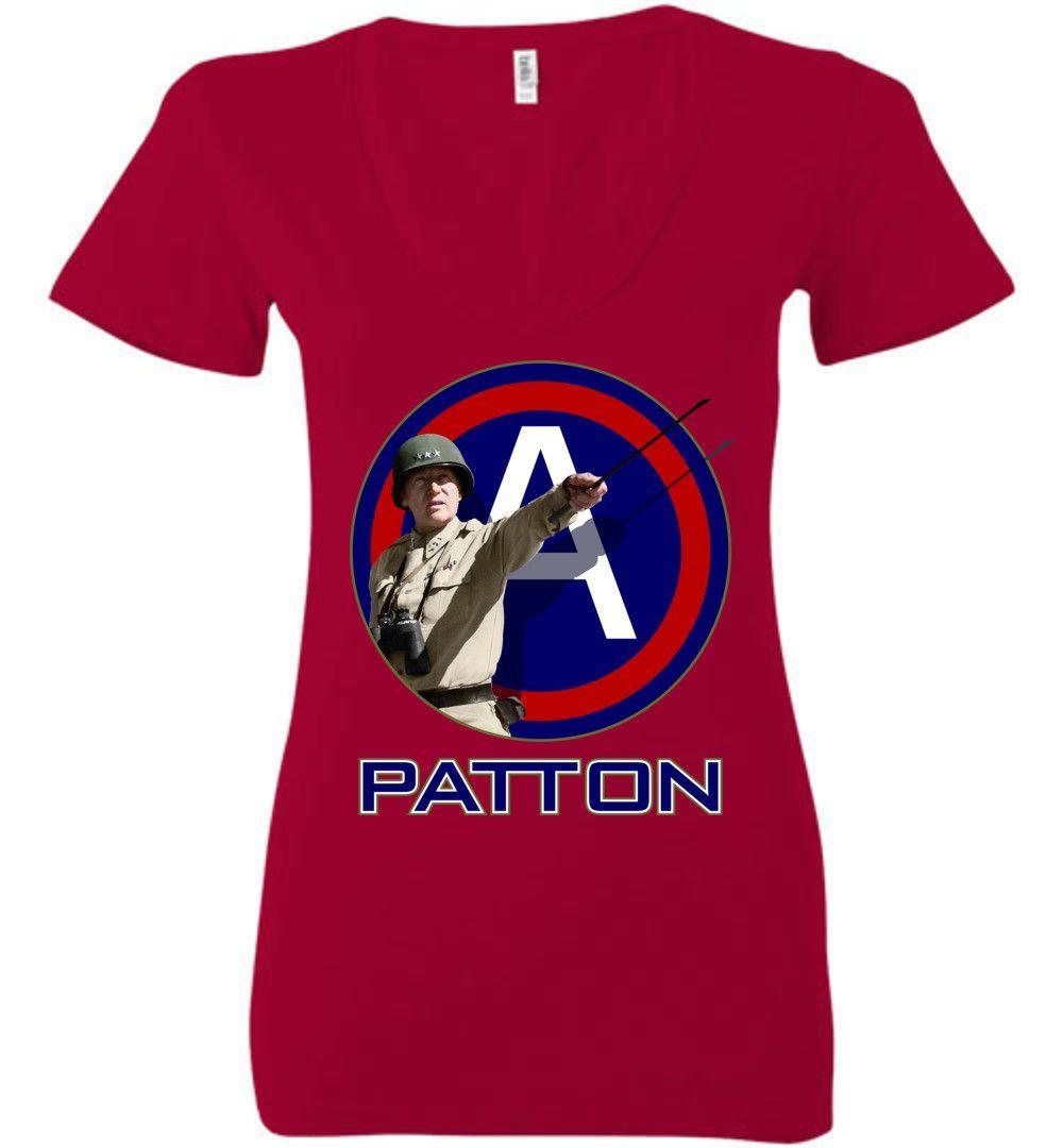 General Patton 3rd Army Women's Deep V-Neck T-Shirt