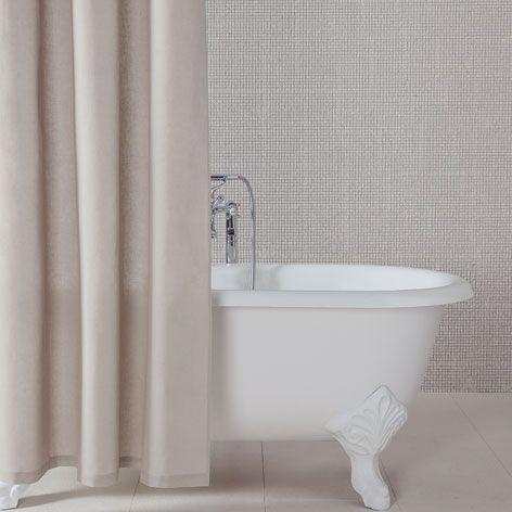 Duschvorhang Aus Leinen Duschvorhang Bad Zara Home
