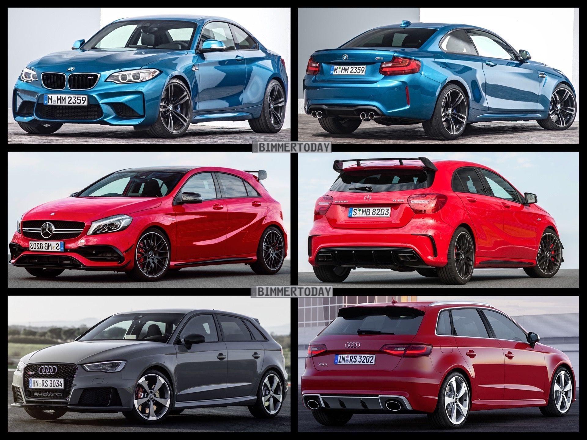 Bmw M2 Vs Mercedes Amg A45 Vs Audi Rs3 Comparison Mercedes