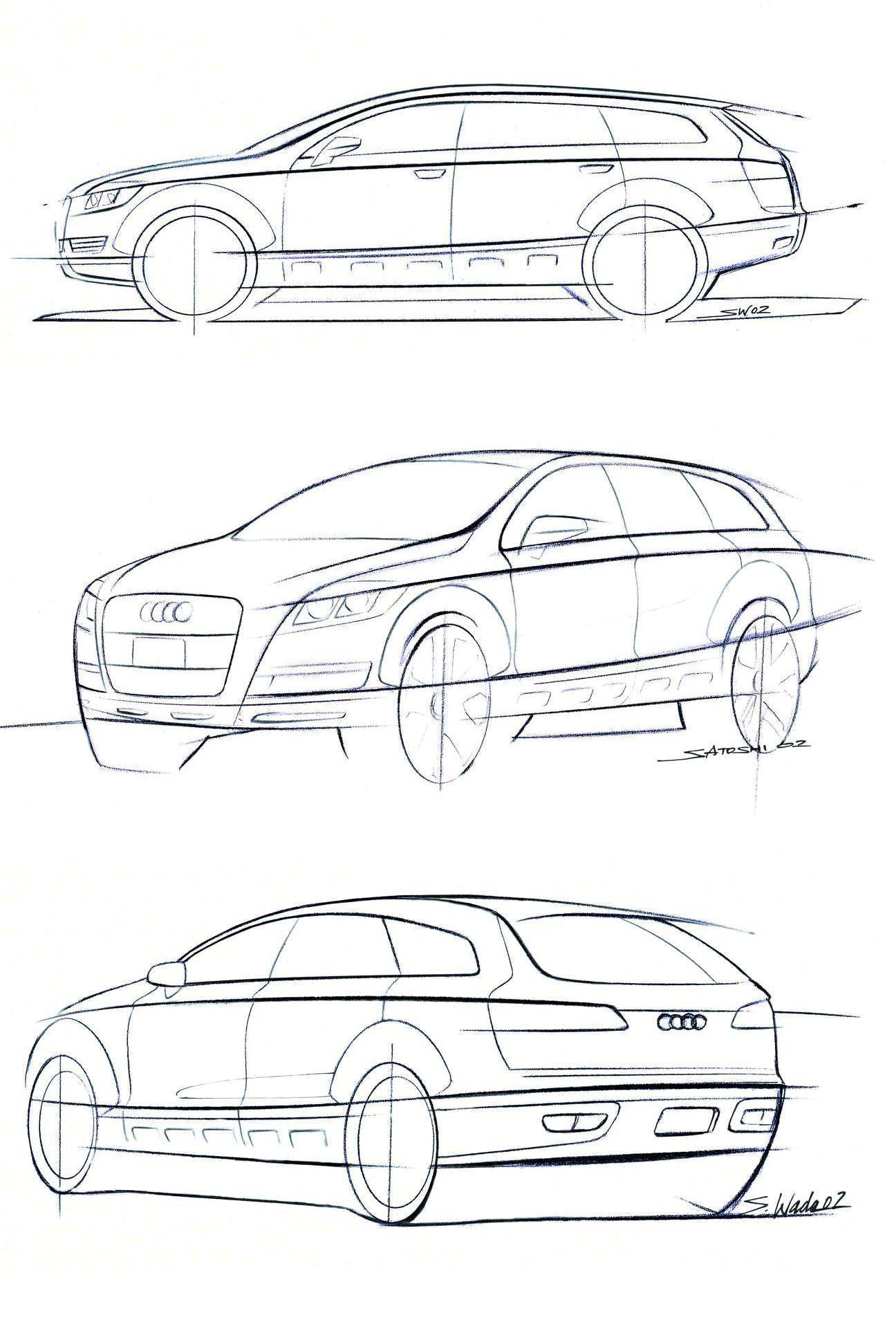Og Audi A6 Avant Design Sketch Dated 2002 Ext Car Sketch