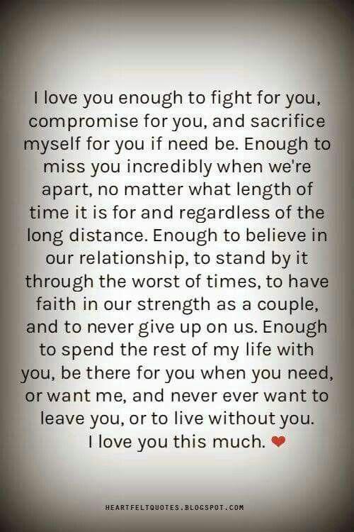 I love you enough | Inspirational quotes | Heartfelt ...