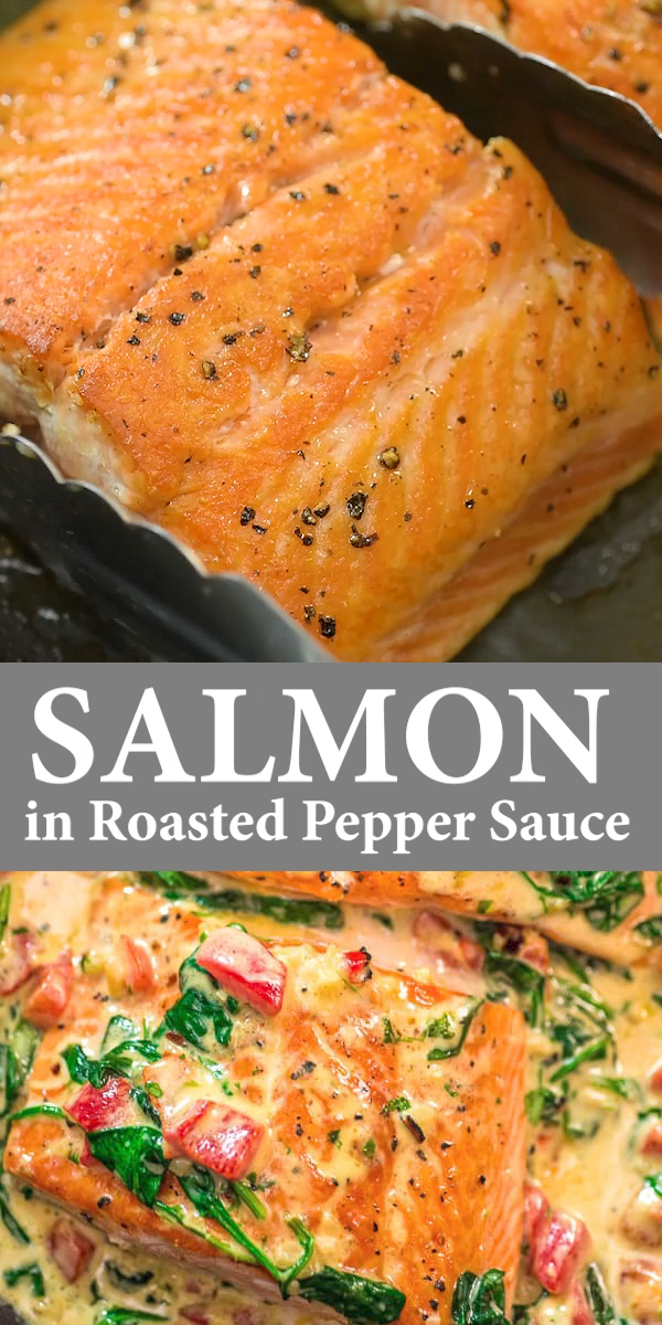 Photo of Salmon in Roasted Pepper Sauce
