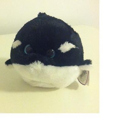 a8d34305903 TY Beanie Baby Ballz 6 inch SPLASH the killer whale 38027 NWT