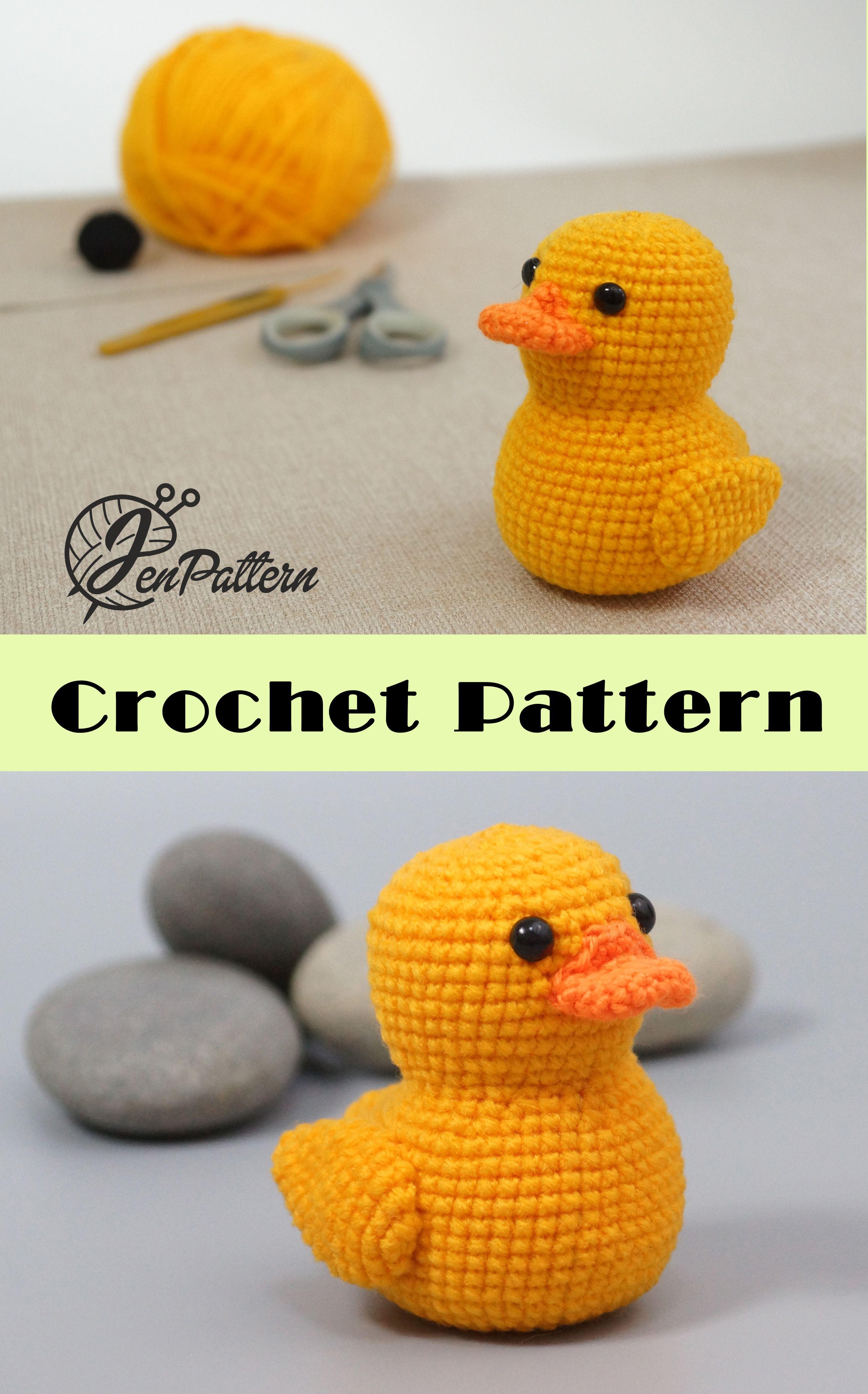 Yellow Rubber Duck Crochet Pattern Amigurumi Duck Pattern Diy
