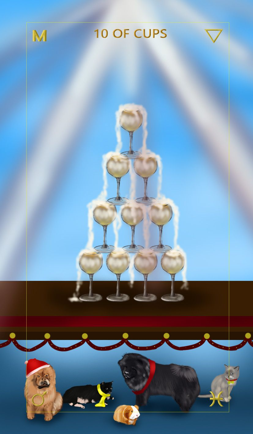 Learn tarot card meanings ten of cups free tarot card