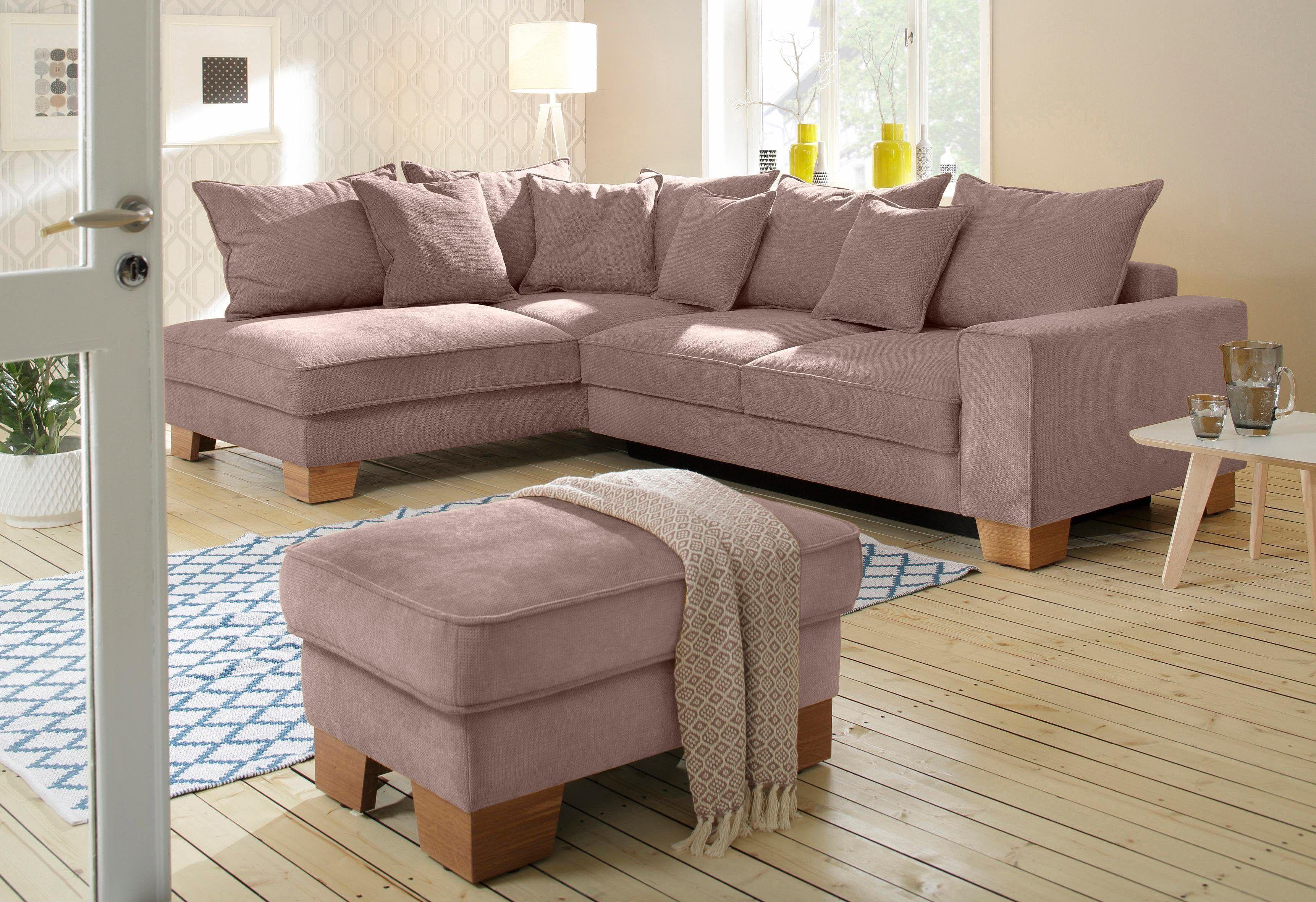 Astounding Sofa Mit Ottomane Und Schlaffunktion Referenz Von Home Affaire Ecksofa Braun, Links, »daria«, Schlaffunktion,
