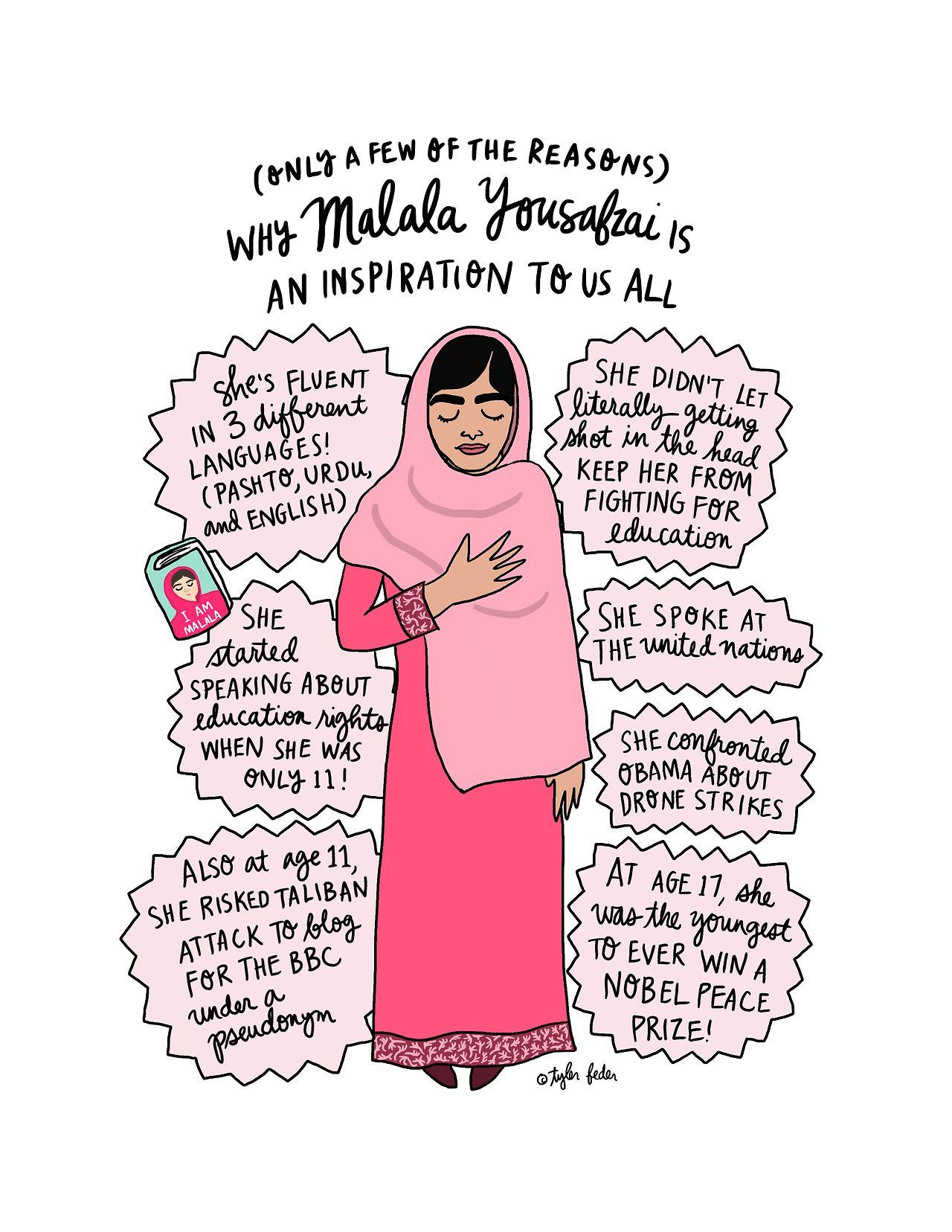 Photo of Items similar to Malala Print – 8.5×11 – Hand-Illustrated on…