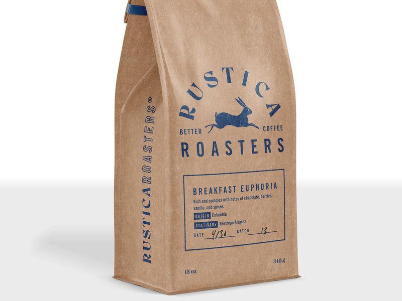 Rustica Roasters Craft Bag Coffee Branding Coffee Craft Bags