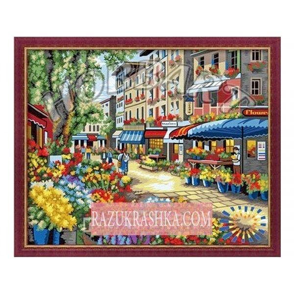 Раскраска по номерам Hobbart «Цветочный рынок». Купить за ...
