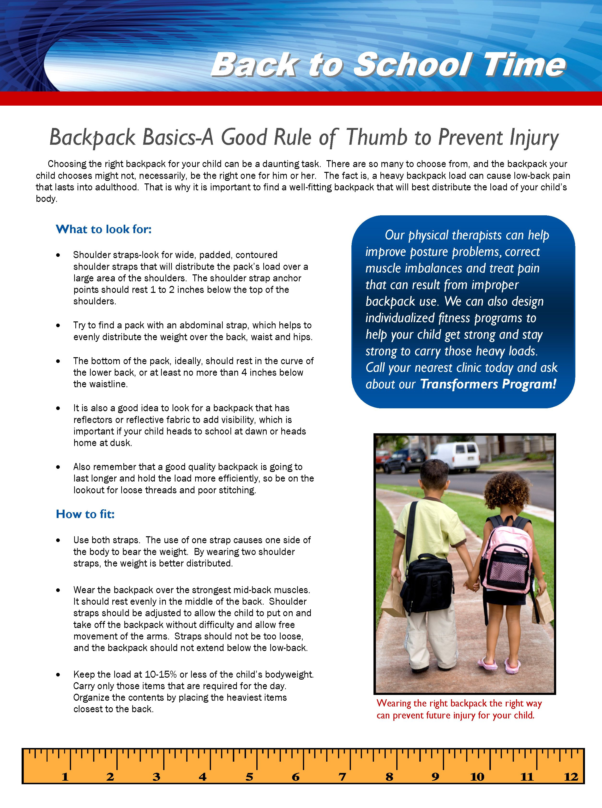 Sorry, guys.  Meant to post this yesterday.  AOTA's #NationalBackpackAwareness Day.  Here are some tips we created you can print out and save.