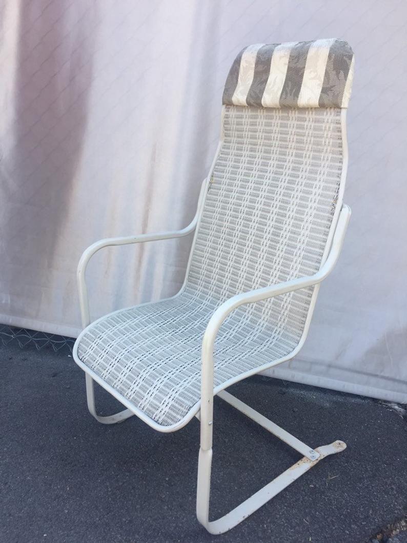 vintage lloyds loom patio wicker chair