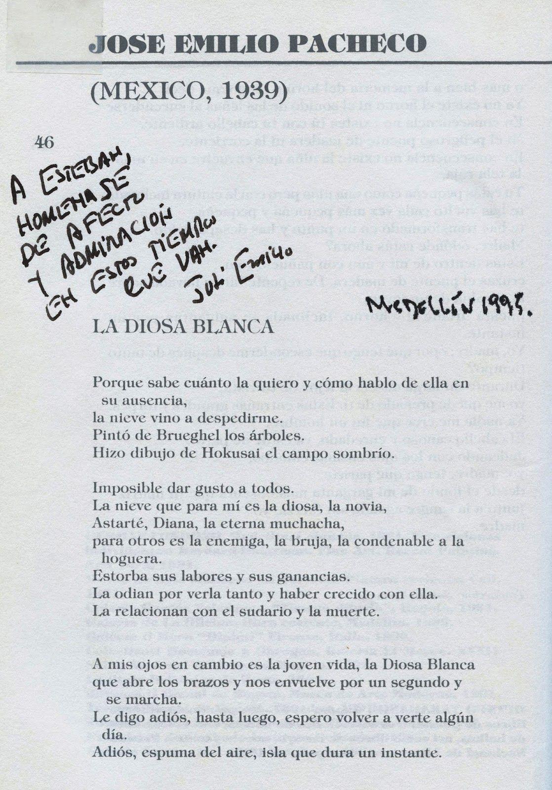 Alpialdelapalabra Jose Emilio Pacheco In Memoriam Memoriam Words Emilio