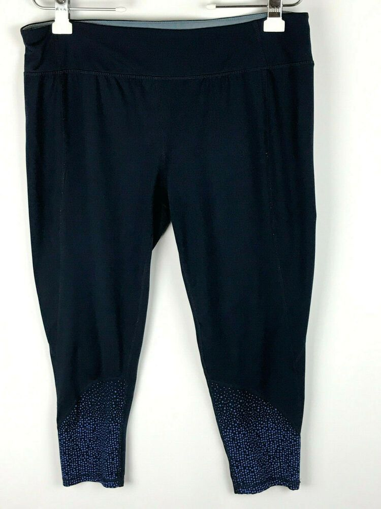 ef896055527c10 (eBay Ad) Tangerine Womens Size XXL Athletic Running Pants Navy Blue Slip  On Crops