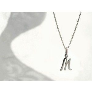 CHILDREN/'s Jewellery Alphabet Initial Letter Necklace Sterling Silver Chain