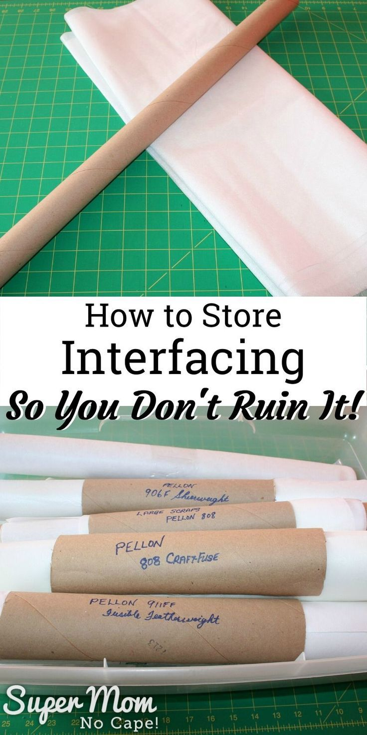 How to Store Interfacing Learn this super simple way to store interfacing to keep it from getting wrinkled and unusable Trying to work with wrinkled or creased interfacin...