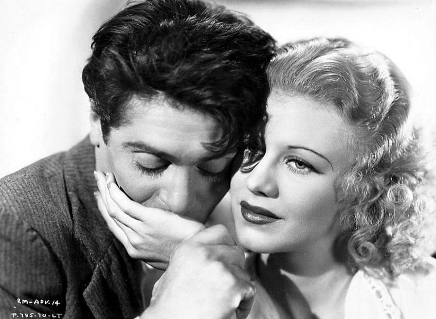 """Francis Lederer, Ginger Rogers in """"Romance in Manhattan"""" (1935)"""