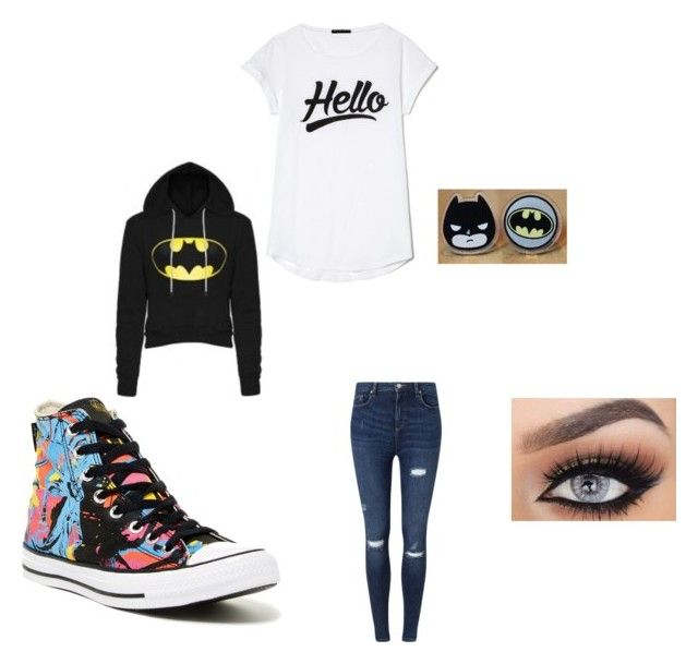 """""""Mya's Outfit"""" by millie-llama ❤ liked on Polyvore featuring Miss Selfridge and Converse"""