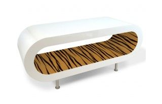Tiger Print Coffee Table / TV Stand / Side Table