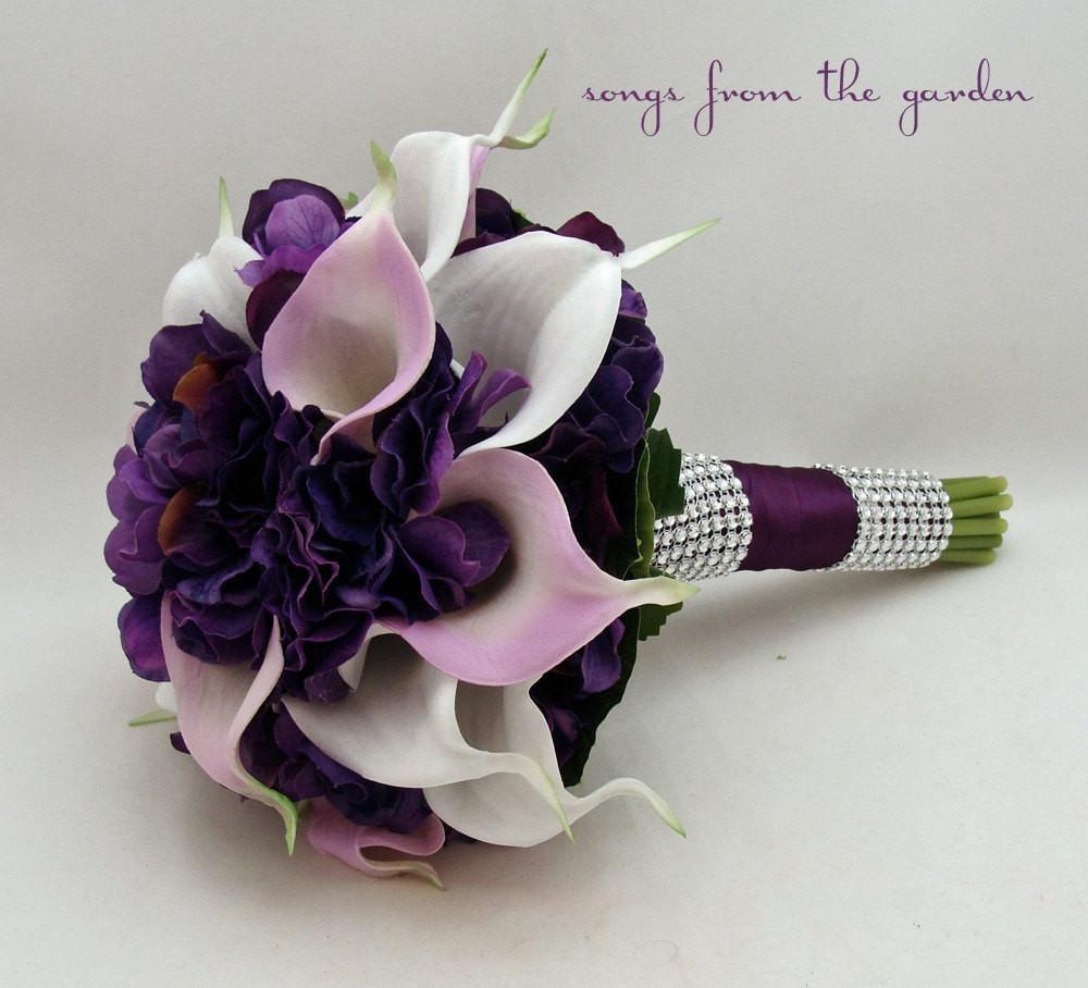 Calla lily hydrangea bridesmaid bouquet lavender white purple flower calla lily hydrangea bridesmaid bouquet lavender white purple flower bouquet izmirmasajfo