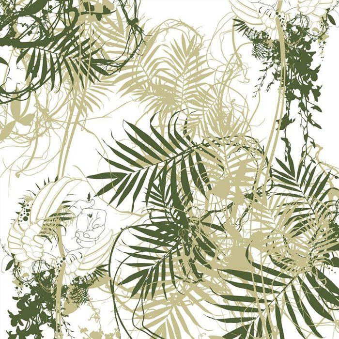 Tendance Foret Tropicale Papier Peint Papier Peint Panoramique