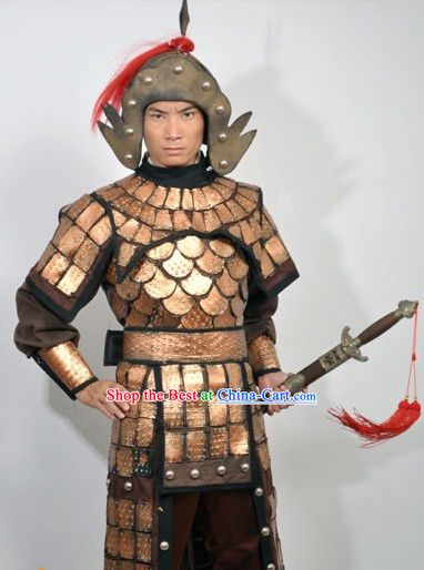 582f71272 chinese armor and weapons | Ancient Chinese Fighting General Armor Costume  and Hat for Men