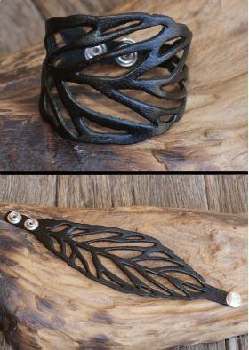 Photo of Leather leaf bracelet # bracelet # leather leaf