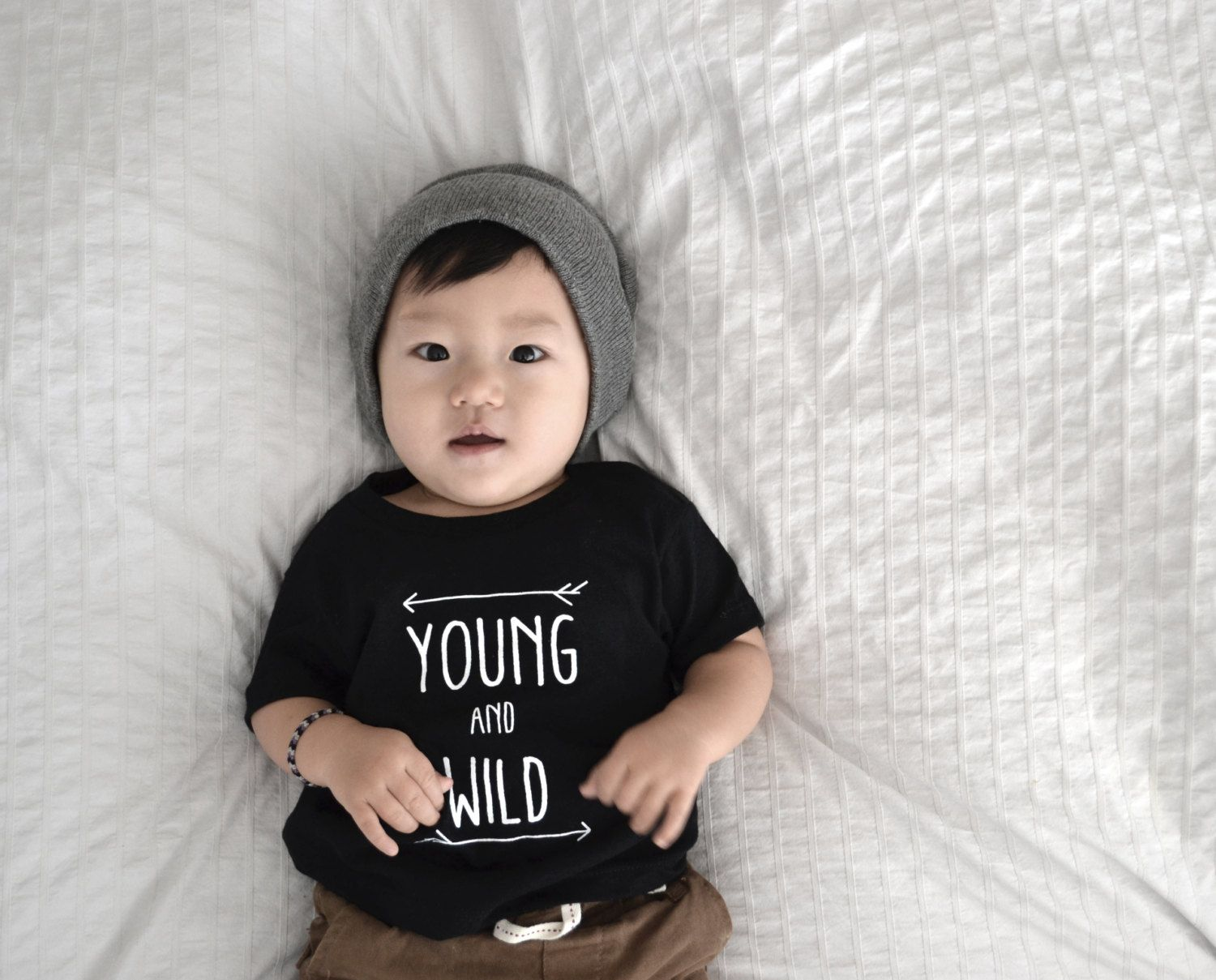 YOUNG AND WILD t-shirts; gender neutral tees; modern baby clothes ...