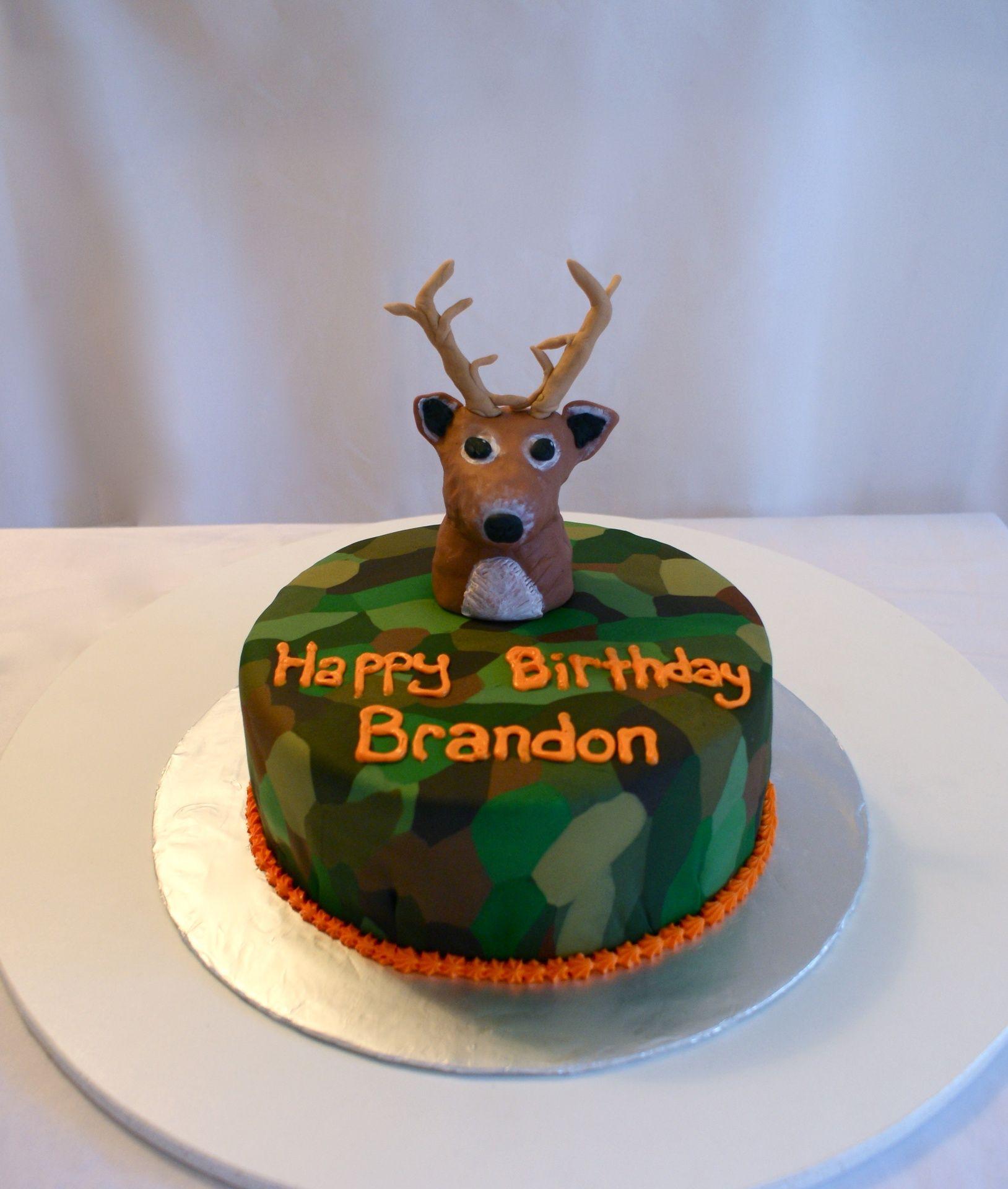Deer Hunting Cake cakesbymeg Charles Bday 3 Pinterest Cake