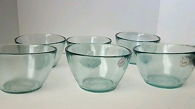 San Miguel Vidrios 100 Recycled Glass Bowls Set Of 6 Glass Bowl Recycled Glass Bowl