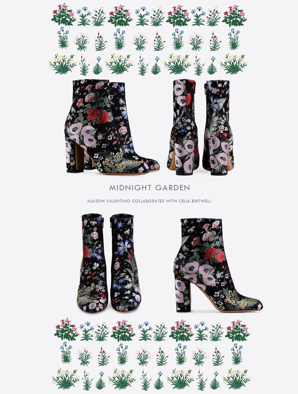 Modern Colorist Valentino Midnight Garden | Zapatos
