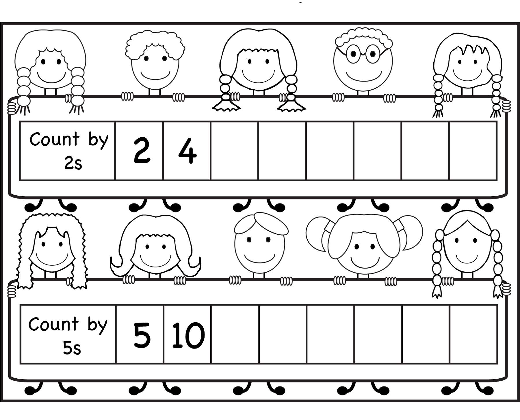 Count By 2 Worksheets For Kids