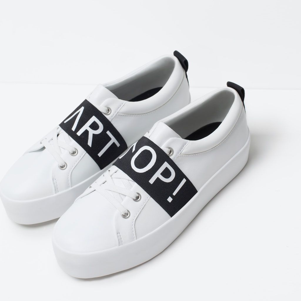 Image 6 of SLOGAN SNEAKERS from Zara