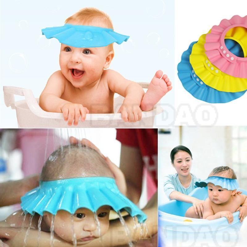 Baby Kids Useful Waterproof Ear Protection Bathing Shower Cap Children Bath Cap
