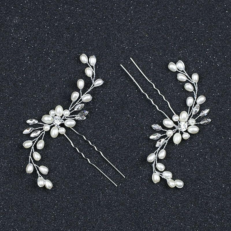 Haarschmuck Blumen Blüten Haarnadeln Braut Brautschmuck Brautfrisur Hochzeit