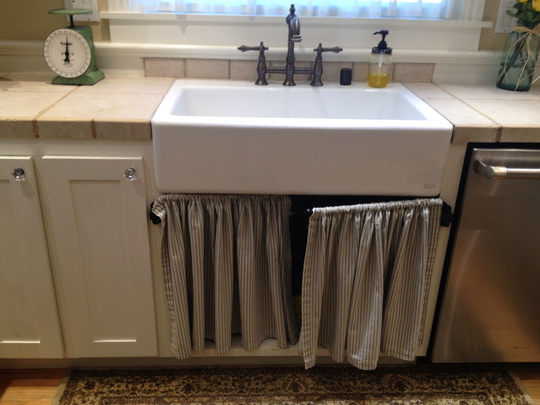 Way To Cover The Opening Under The Sink Under Kitchen Sinks Sink Cover Home Decor