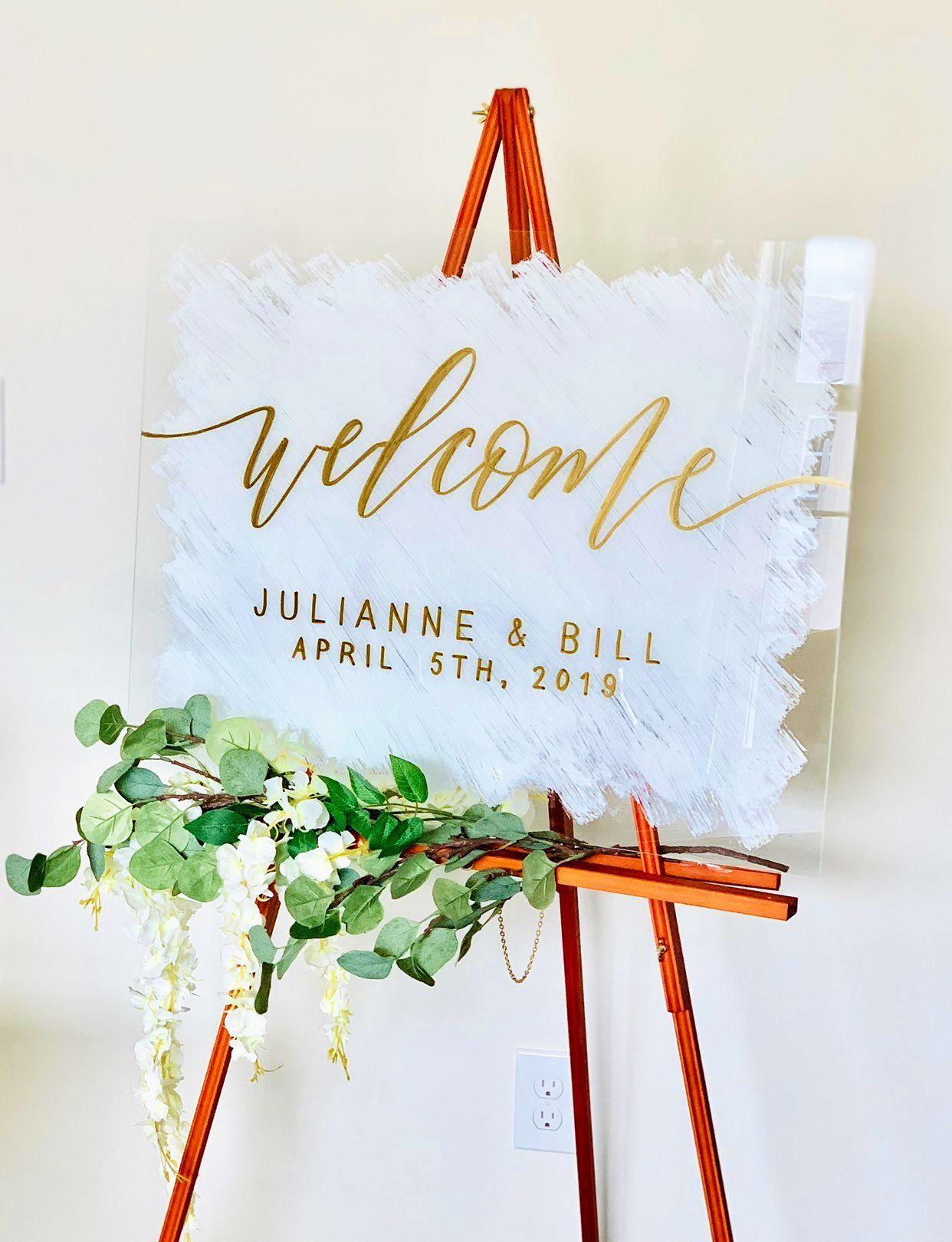 Welcome Sign Wedding | Acrylic Welcome To Our Wedding