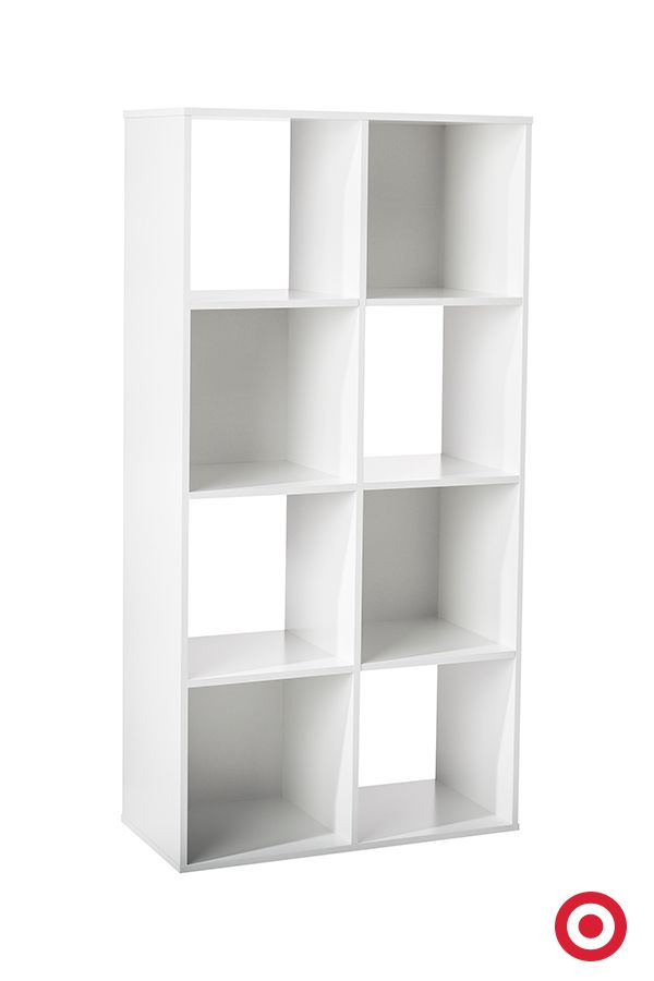 8 Cube Organizer Shelf White 11 Room Essentials Fabric