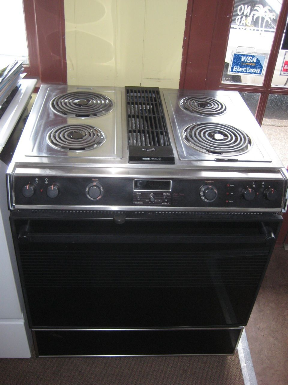 cooktops electric with downdraft      ge coil electric