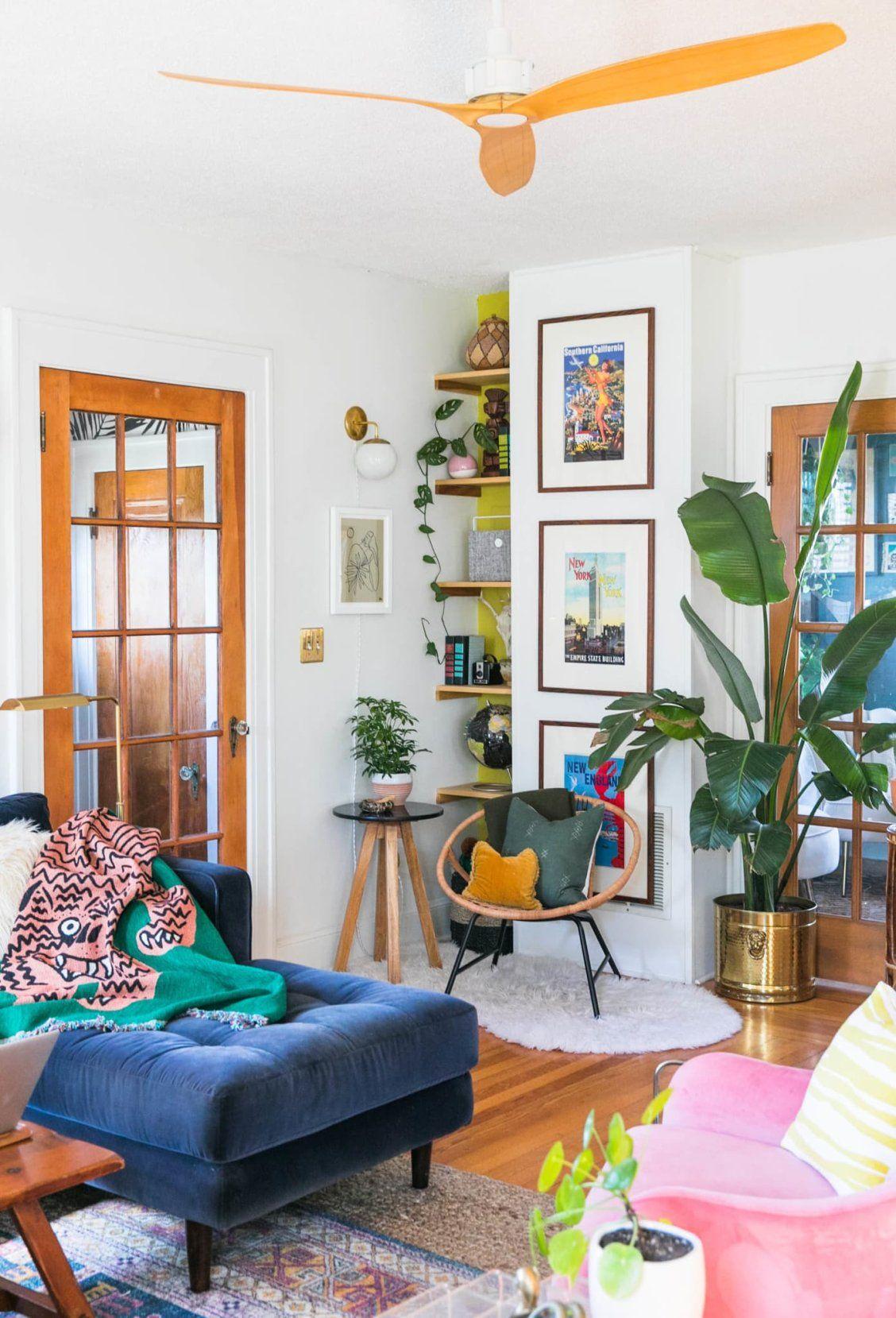 A Bold 1934 Craftsman Bungalow Proves Nature Has The Best Color Inspiration Home Decor Cheap Home Decor Apartment Inspiration