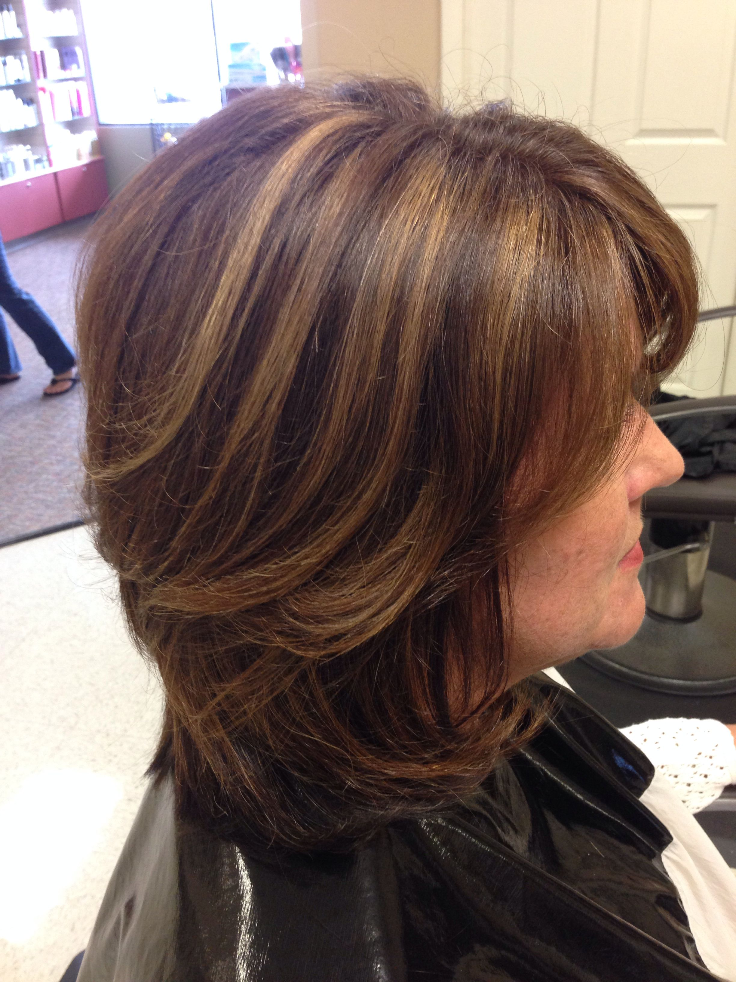 Love My Highlights By Tk Older Women Hairstyles Hair Color Ideas For Brunettes Short Womens Hairstyles