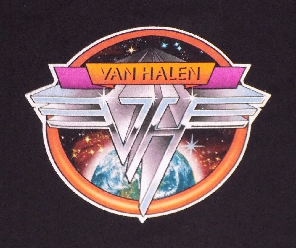 Vintage Van Halen Logo Black Xl T Shirt David Lee Roth Eddie Alex Classic Rock Anvil Graphictee Ropa