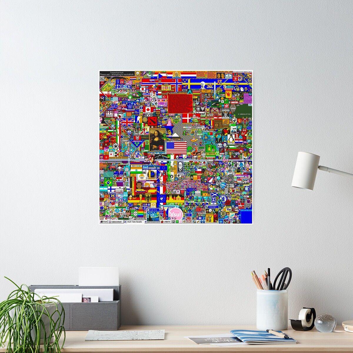 Reddit rplace 12k poster by bobbooo poster prints