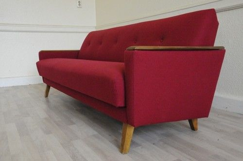 Mid Century Day Bed Sofa Amp 2 Arm Chairs Vintage Retro 50s