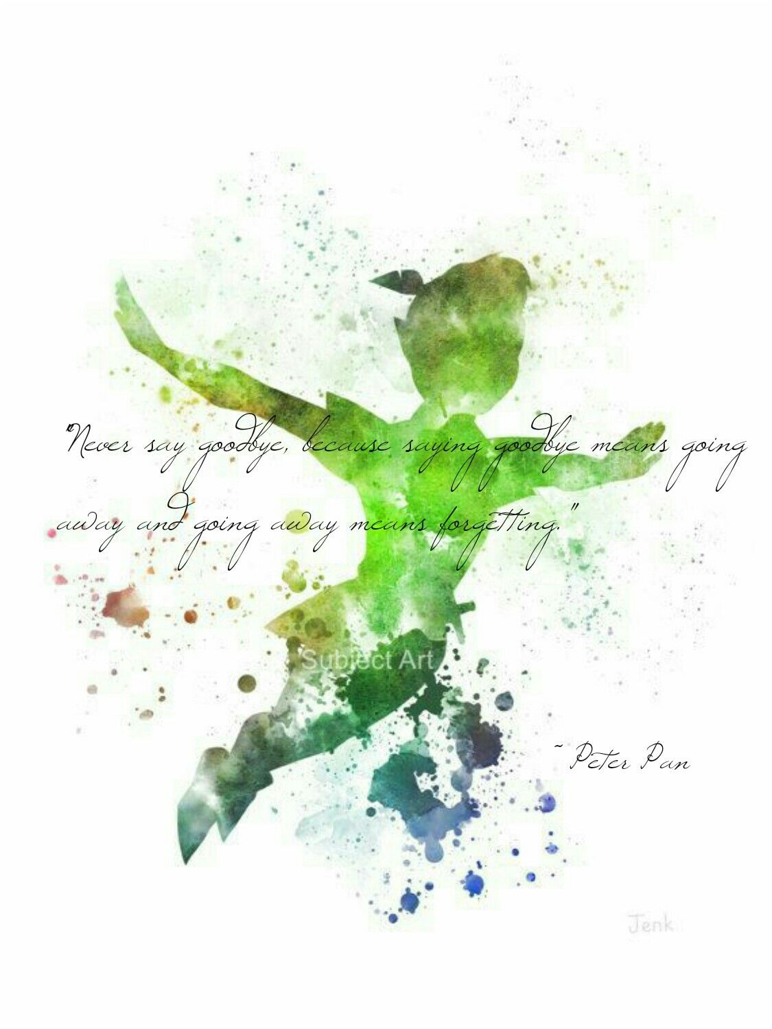 Peterpan Neverland Wendy Naseweiß Never Say Goodbye Because