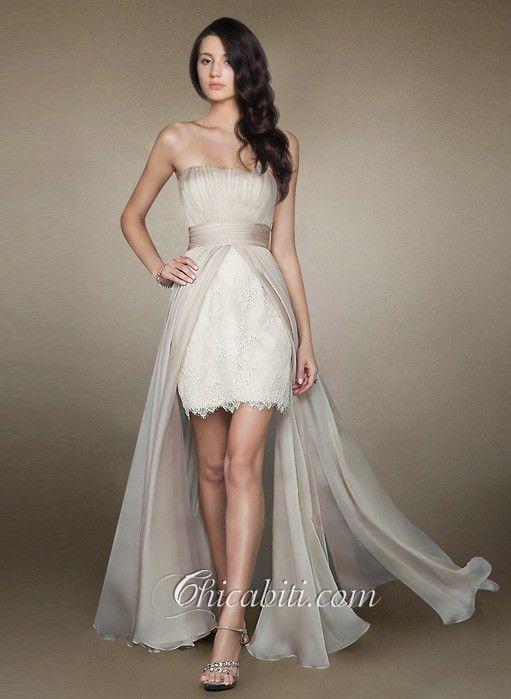 5b3a13a812a4 Risultati immagini per abiti da sposa corto davanti lungo dietro ...