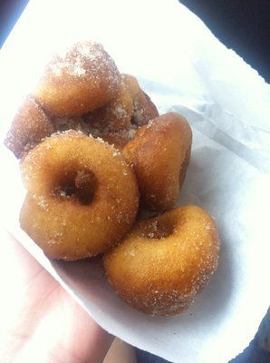 Mini cinnamon sugar donuts at Meany's Mini Donuts - Siesta Key, FL...some of the...