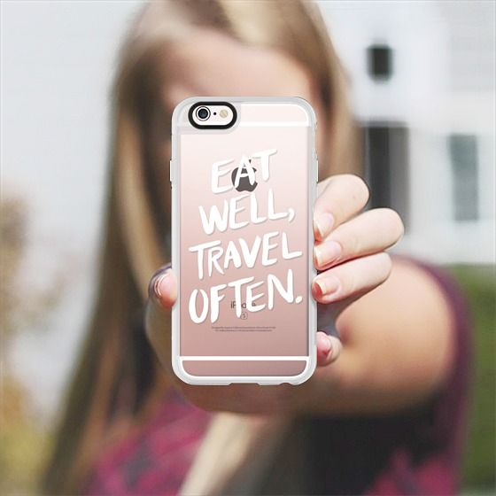 Eat Well, Travel Often. (White Ink) - New Standard Case