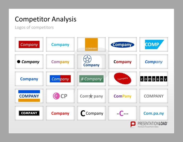 Competitor Analysis PowerPoint Templates Use This Template To Show The  Logos Of Your Competitors. #  Competitive Analysis Templates